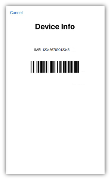 IMEI number on your iPhone