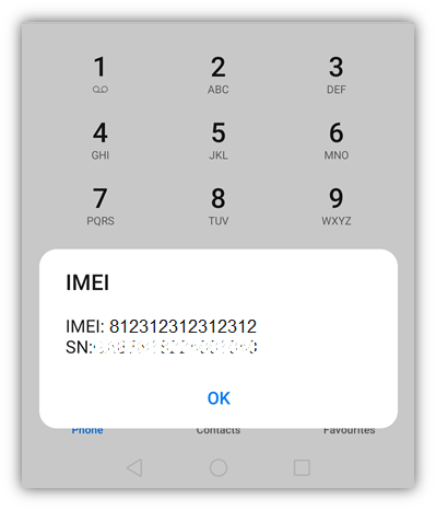 What imei check looks like