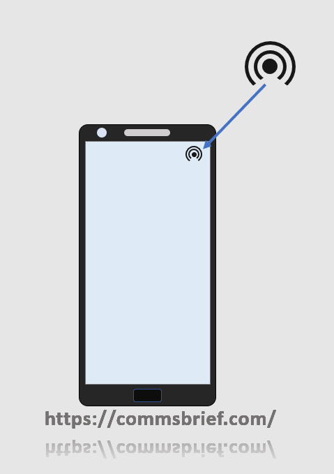 Mobile hotspot symbol displayed on a phone